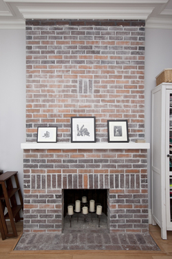 218 East 30th Street Duplex: fireplace